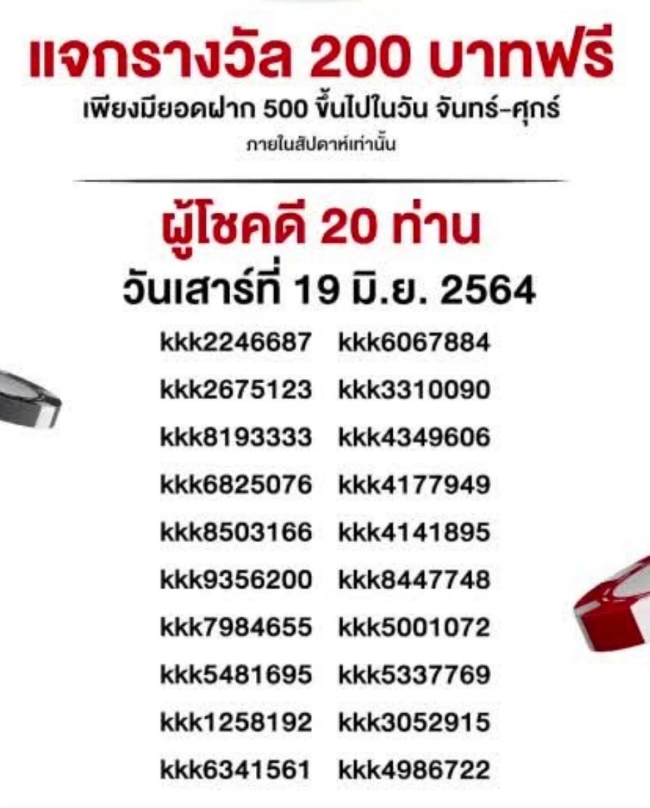 แจกเครดิต19-06-2564